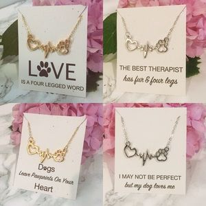 Jewelry - Dog Lovers Necklace In Gold or Silver